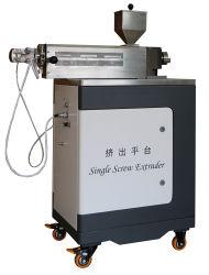 Unidade de extrusão de parafuso único com folha de PVC maleável aquecida electricamente de laboratório