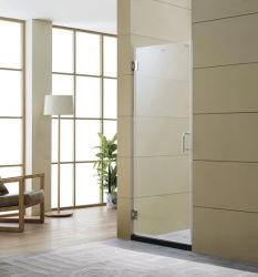 2018 Panneau de porte de douche en verre populaire charnière en acier inoxydable porte en verre porte de salle de bain Douche Salle de bains de pivotement de l'écran