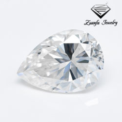 Prix de commercialisation de couleur blanche de la glace Crushd Pear Cut 7x11mm Moissanite Lab créé Diamond synthétique desserrés