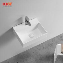 Badezimmer-Wand hing kleines festes Oberflächenhandwäsche-Bassin für Projekte