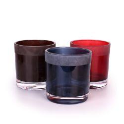 Kundenspezifisches Glas Mit Rundem Glas Und Milchglaskerze