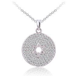Micro allanar ajuste ronda estrellas Colgantes de plata para la Mujer