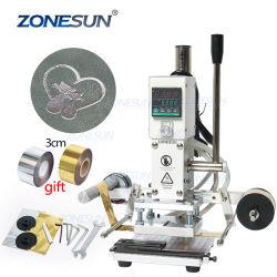 Zonesun ZS-90A 디지털 자동 가죽 핫 포일 스탬핑 장비 설명서 엠보싱 공구 크리싱 목재 종이 PVC 카드 프린터 DIY