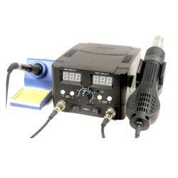 2 في 1 إعادة عمل شركة SMD Hot Air Soldering Iron Station+ Repair الأدوات 5 فتحات شاشة LED كهدايا مجانية