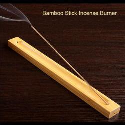 Útil Material de bambú Stick titular de la placa de incienso fragante Ware Stick Grabadora de incienso Quemador de incienso de la línea de bambú