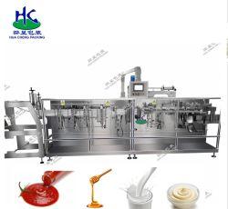Horizontales automatisches flüssiges Reißverschluss Doypack Beutel-Verpackungsmaschine-Nahrungsmittelveterinärdroge-/Laundry-Reinigungsmittel/Puder/Saft/Tee mit Milch /Grain