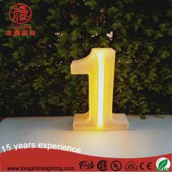 Светодиод 5 В пластмассовую рамку с высокой яркостью номер Формы настольное украшение неоновой лампы