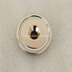 El neodimio NdFeB permanente Ronda Fuerza agujero avellanado D48mm olla magnético