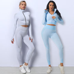Ropa de moda mayorista Dating Legging Yoga Gimnasio pista de Jogging Deportes mujer traje de sudor