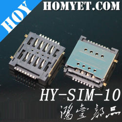 Usine Double-Deck titulaire de la carte SIM d'alimentation du connecteur de type push-pull