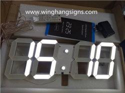 White 88 : 88 LED 3D'horloge