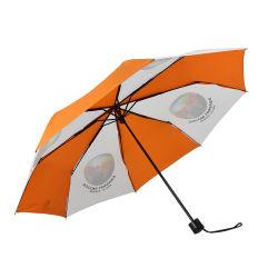 Un ombrello compatto molto piccolo delle a buon mercato 3 volte stampa il Portable aperto del manuale della parte esterna