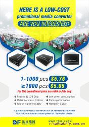 10/100/1000m SFP Faser-Media-Konverter