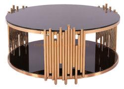 Коммерческие Журнальный столик из черного стекла мебель гостиной современной ли закрывается золотой стол со стороны