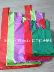 HDPE de Kleurrijke Sterke Plastic Duurzame het Winkelen van het Vest het Winkelen van de Zak Plastic Boodschappentas van de Zak