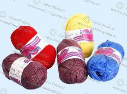 手の編む毛糸