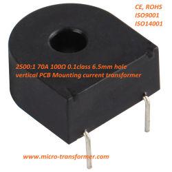 2500: 1 100 ohm 70A 0.1calss PCB vertical de montaje de transformador de corriente Zmct116W