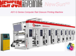 140m/Minコンピュータのグラビア印刷の印刷機械装置(ASYG)