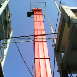 Стальной вертикальный цепной конвейер станок вертикальный элеватора ковша на цемент