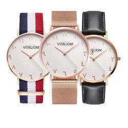 La mode de tissu de nylon Sangle de toile 30m Quartz étanche dw Watch verre saphir-V5