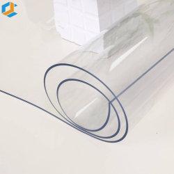 PVC-blaue und transparente weiche Kunststoff flexible Folie für Tisch Stoffabdeckung