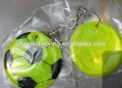 Catena chiave riflettente di promozione, abitudine morbida della catena chiave del PVC, catena del pendente di gioco del calcio