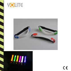Clignotement de la LED étanche Sports brassard réfléchissant la nuit de l'exécution