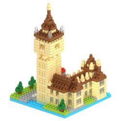 14889401-Micro Kit de Bloque de la serie de edificios educativos creativo conjunto de bloques de juguete DIY 510PCS - Big Ben