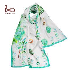 Женщины уже давно чистого шелка цифровой печати атласная бумага нестандартный шарфом подарок