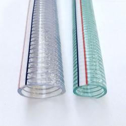 Commerce de gros fil en acier en spirale flexible en PVC renforcé clair du tuyau flexible d'aspiration