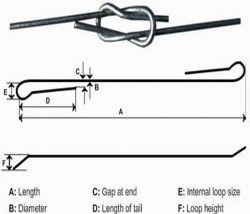Link Rápido de algodão galvanizado o fio de ligação do Fardo