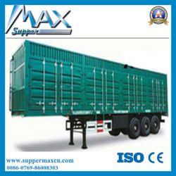 Box Cargo Animal Transport Semi Truck Trailer Voor Afrika
