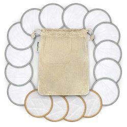 Face redonda de fibra de bambu Pastilhas Removedor de maquiagem reutilizáveis lavável