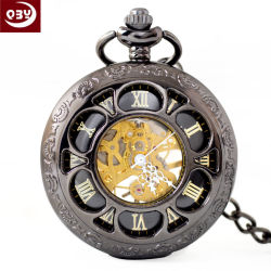 Vintage Hollow Mechanical Pocket Horloges Voor Mannen En Vrouwen Vrije Tijd Mechanische Pocket Horloges