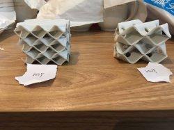 熱交換器のための陶磁器の構成されたパッキング250y 250X