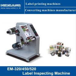 Pequena etiqueta autocolante Material impresso a máquina de inspeção de qualidade Inpecting