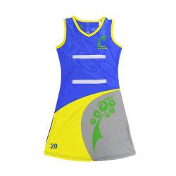 China Venda Quente Meninas Sportswear se sublima Netball Uniforme de vestuário