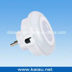 9 LEDs Três Cores Color alterando o interruptor de toque LED Sensor Fotocelula Luz noturna com adaptador