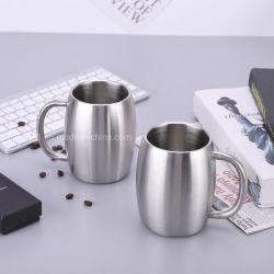500 ml de zumo de cóctel aislados de acero inoxidable taza de café con la impresión