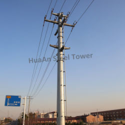 66kv電力伝達電流を通された鋼鉄管のポーランド人タワー