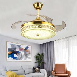 Освещение в помещении Ceilng вентилятор с хрустальной люстрой и