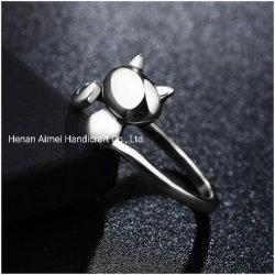 Элегантный гостиничный комплекс Cat кольцо очаровательного 925 серебряные кольца