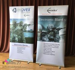 良質の100X200CMはフルカラーの印刷を用いる旗の立場を転送する