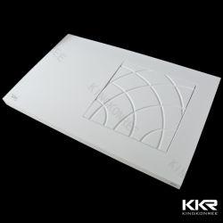 Acrílico blanco mate Superficie sólida base de ducha de piedra artificial personalizado