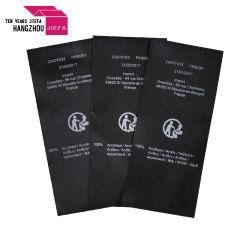 Preiswertes Preis-Marken-Firmenzeichen-bunter Satin druckte Kennsatz/Kleidungs-Kennsatz