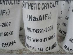 مسحوق أبيض كريوليت اصطناعي (Na3AlF6) لماكاشطة مربوطة