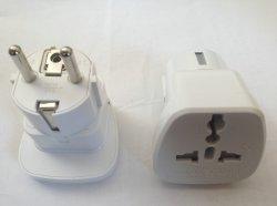 Zwei runder Stiftkontaktbuchse-Adapter-Adapter ABS Stecker (Y077)