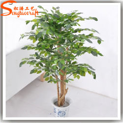 Evergreen artificial de plantas ornamentales Ficus Bonsai Tree