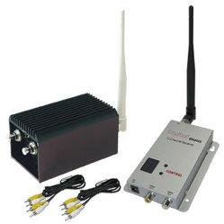 10km de Long Range émetteur et récepteur vidéo sans fil avec 5W, 8 canaux