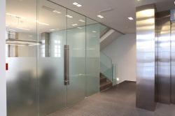 Vente chaude Topbright Frameless porte en verre coulissante pour Office
